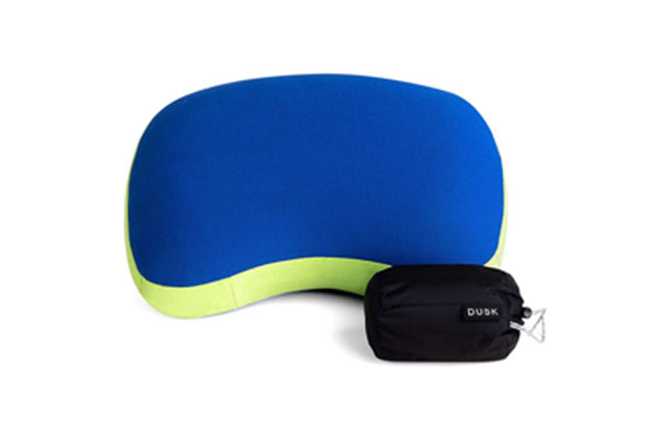 #4. DUSK Inflatable Soft Lightweight Comfortable Backpacking Pillow