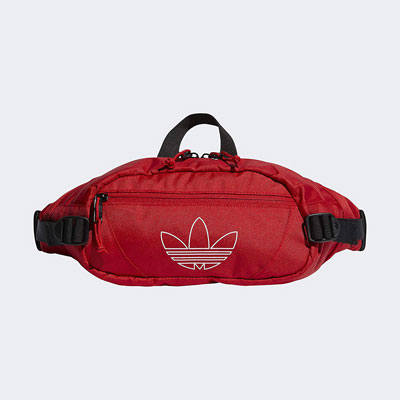 #1. Adidas Originals Utility Cross-Body Jacquard Webbing Zippered Pockets Unisex Waist Bag