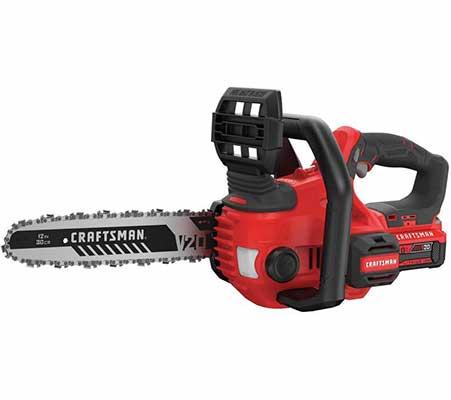 #6. CRAFTSMAN CMCC620M1 V20 12 Inch High Capacity 4.0Ah Cordless Chainsaw