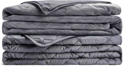 #1.L'AGRATY Queen Size 60x80 20 lbs Weighted Blanket for Adults