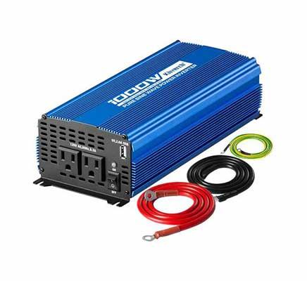 1. Kinverch 1000W DC 12V - 110 AC Continuous 2000W Peak inverter w/2 AC Output Ports