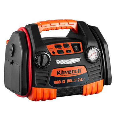 1. Kinverch Portable Jump Starter with 1-USB Power Ports