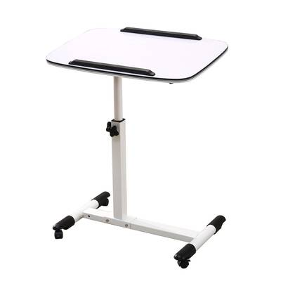 #9. NOVII Adjustable Height Portable Multi-Purpose Movable Mobile Laptop Stand Desk with Wheels