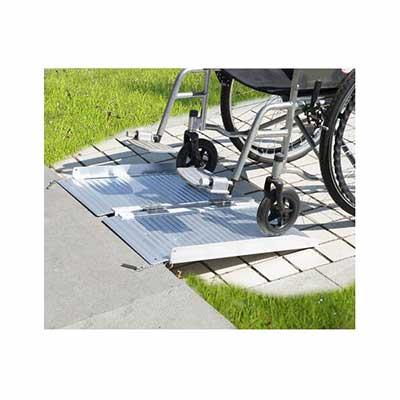 #5. Thegreathopman 2 Inch Aluminium Fold Portable Wheelchair Ramp