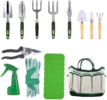 3. Crenova 10-Pcs Pruning Shears, Garden Tote, Garden Gloves, Kneeling Pad Garden Tools Set