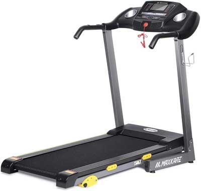 #5. MaxKare 17'' Tread Belt LCD 15 Preset Programs Foldable Electric Running Machine