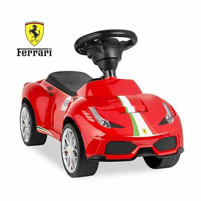 #6. Best Choice Products Ferrari 458 Sports Kids Ride On Car, Horn- Red