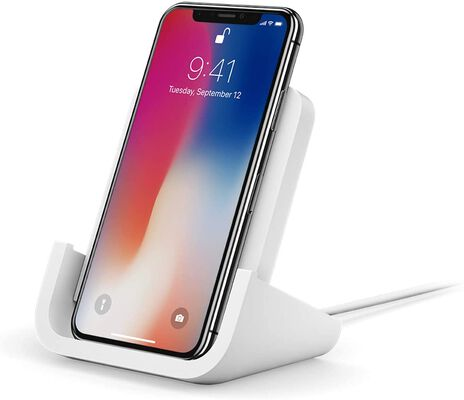 9. Logitech 7.5W Qi Certified & Optimized for iPhone Powered Wireless Charging Stand
