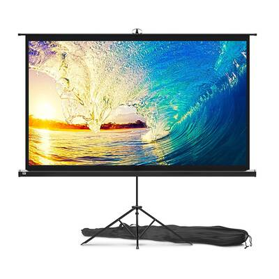 #4. PropVue 84 inch Projector Screen with Stand for Office Presentation and Movie