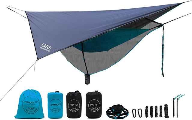3. LAZZO Camping Hammock | Weighs 4 Pounds