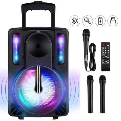 7. SEAPHY Remote Cord Mic 10Inch Woofer BT Connectivity B10 Karaoke Machine for Adults & Kids