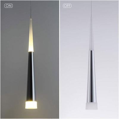 #6. Bewamf Modern Adjustable Cone 9W Warm Light Mini Island Pendant Light