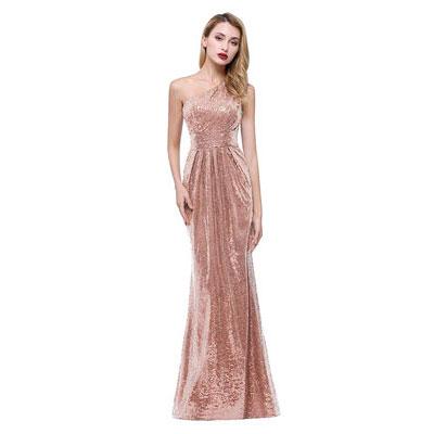 #10. Karever Women's Sequined Long Bridesmaid Dress