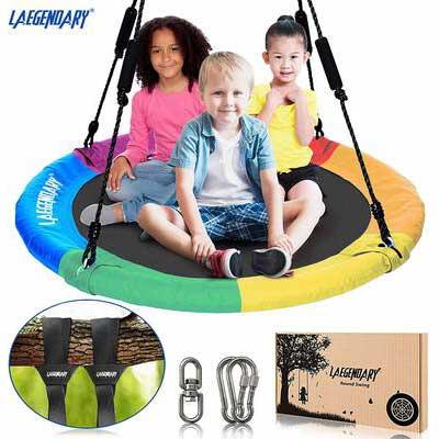 1. LEGENDARY 1 Swivel 2 Tree Straps 700lbs Outdoor Indoor Flying Saucer Swing Set Toys