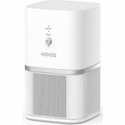 10. KOIOS 100% Ozone-Free Remove Allergens True HEPA Filter Desktop Air Purifier for Homes