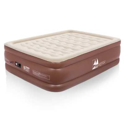 #2. Missyee Inflatable 22'' Raised Height Premium Flocked Top with ERGOCOIL Technology Air Mattress