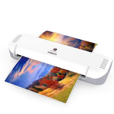 #10. ABOX A4 Portable Thermal Laminating Machine OL141 with 12 pouches
