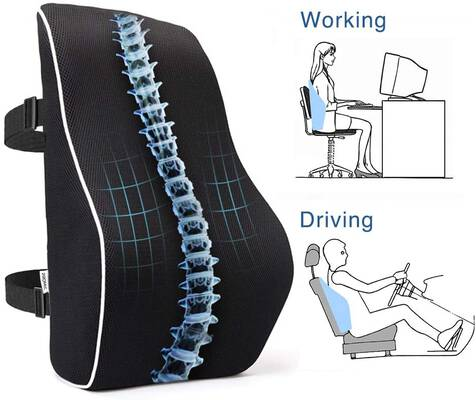 #7. PROMIC Ergonomic Lumbar Pillow 3D Mesh Cover & Adjustable Straps for Office Chair (Black)