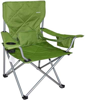 Carry Bag Included Kamileo Camping Chair Folding Portable Lawn Chair with Padded Armrest Cup Holder and Storage Pocket