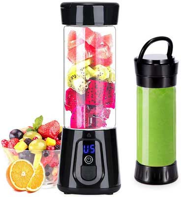 8. YoujiaBest Portable Blender w/Easy Clean Glass for Shakes & Smoothies
