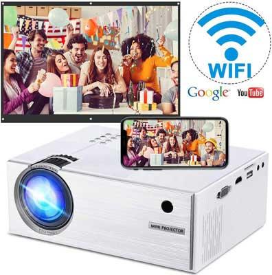 #9. WEILIANTE Full HD Portable 2800 Lux Wireless Mini Projector