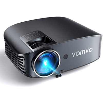 #1. Vamvo Outdoor Movie Projector 200 Inches Projection Size Support 1080P Video Projector