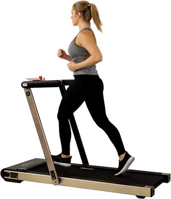 #9. Sunny Health & Fitness Asuna 8730G Motorized Space Saving Running Machine