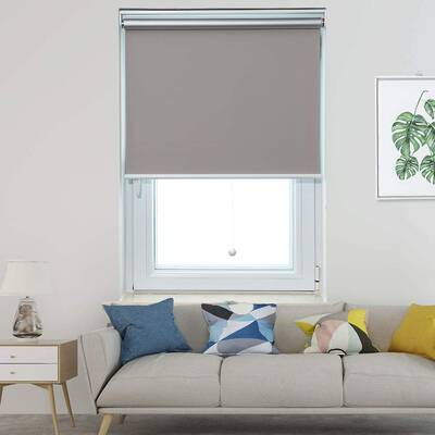 8. Allesin Grey 24x72 Cordless Easy to Pull Blackout Roller Shade Window Blinds for Room