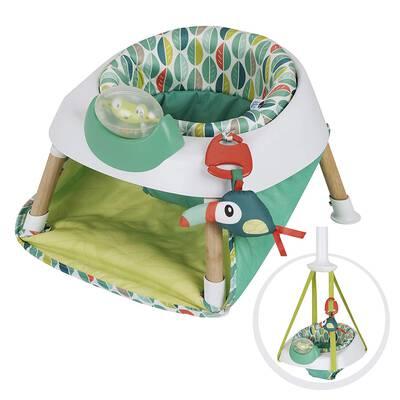 #2. Evenflo 2-in-1 Easy Setup Sleek Design Exersaucer Tiny Tropics Baby Seat & Door Jumper