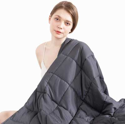 #8. Beauty Kate 60x80 inches Queen Size 15 lbs Weighted Blanket for Improved, Grey