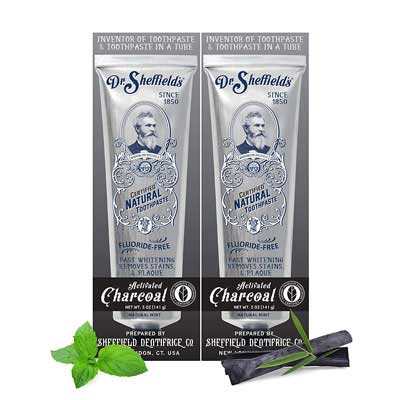 #2. Dr. Sheffield's 2 Pack Fluoride-Free Certified Natural Toothpaste