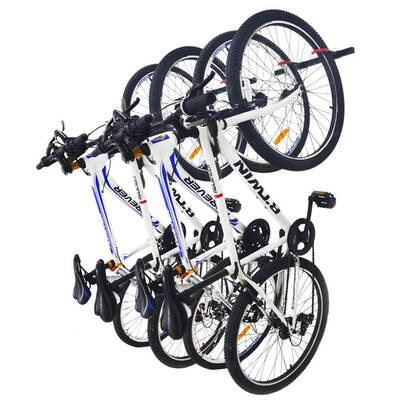 #8. Qualward Bike Wall Mount Home and Garage Storage Rack Bicycle Hanger (2 Pack)