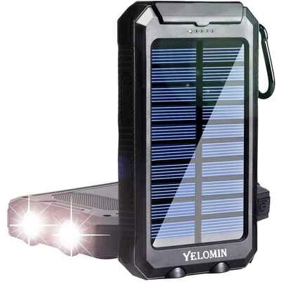 10. YELOMIN External Camping Dual USB 5V 20000mAh Portable Power Bank w/Compass