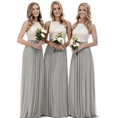 #5. Zhongde Women's A-Line Long Bridesmaid Dress
