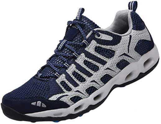 #7. Dabbqis Trail Running Sneaker Lightweight Athletic Trekking Breathable Hiking Shoes