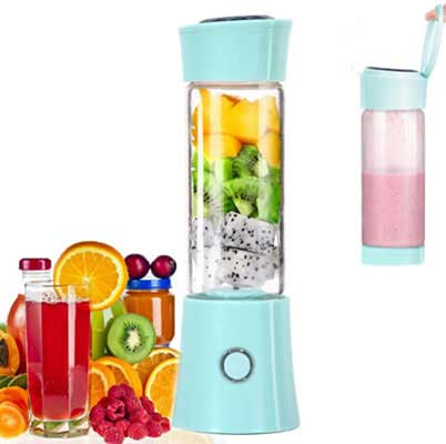 6. Little Bees Portable Mini Blender w/3D 6 Blades for Home and Office Use