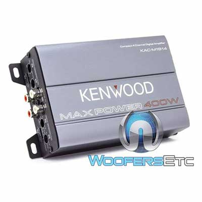 #4. Kenwood KAC-M1814 4-Channel Compact Amplifier