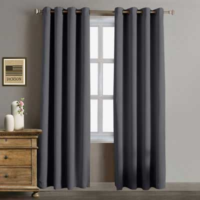 7. Rose Home Fashion Blackout Thermal Insulated Antique Bronze Curtains, 2 Pieces Set