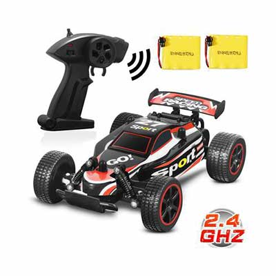 #9. Blexy 2.4GHz High-Speed Rock Off-Road Electric Fast Race Buggy Remote Control Car for Kids (Red)