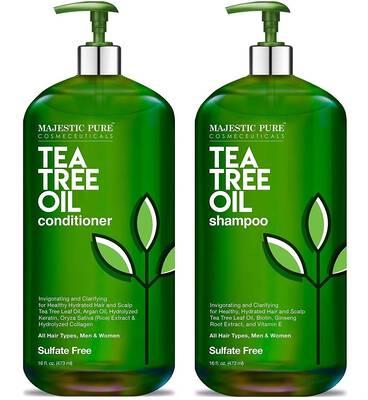#6. Majestic Pure 2 16 Fl. Oz. Dandruff Tea Tree Shampoo & Conditioner Set for Men & Women