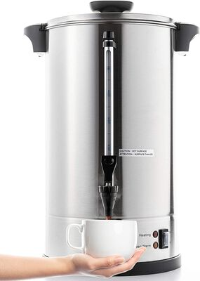 4. SYBO rcm016S-16B 16L Metallic Stainless Steel Commercial Grade Coffee Maker