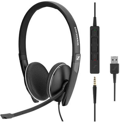 3. Sennheiser SC 165 USB Double-Sided Professional Noise Cancelling Headset w/Mic (Black)