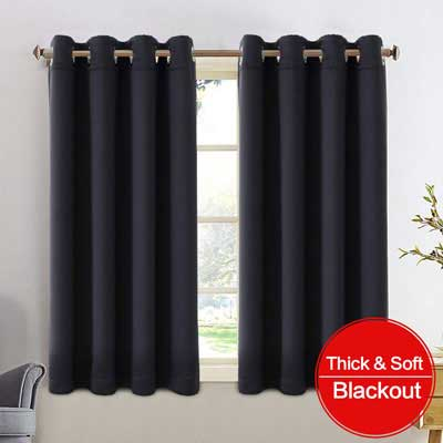 3. FAIRYLAND Thermal Insulated Blackout Curtains for Living Room, Bedroom