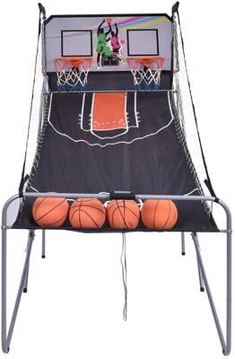 #9. GYMAX Electronic Basketball Game, Double Shot Basketball Arcade