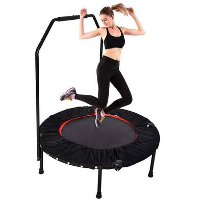 """#10. YUSING 40"""" Max Load 30lbs Portable & Foldable Mini Trampoline Rebounder for Adults Kids"""