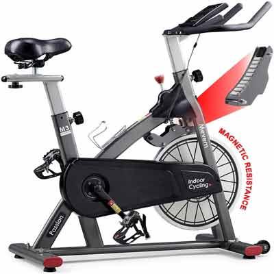 #8. MEVEM Belt Drive Magnetic Stationary Indoor Cycling Bike for Cardio Gym Workout