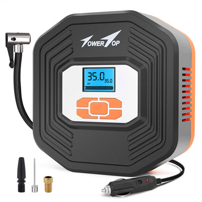 5. Towertop Portable Air Compressor with LCD Display