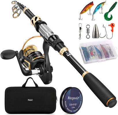 6. Magreel Telescopic Fishing Rod & Reel Combo Set