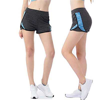 #5. PUNTU Sport Gym Workout Contrast Fabric Running Pants for Women