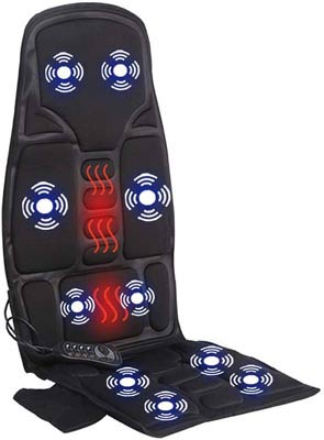 #5. Sotion Pad Cushion with Heat & Vibration Therapy Car Seat Massager